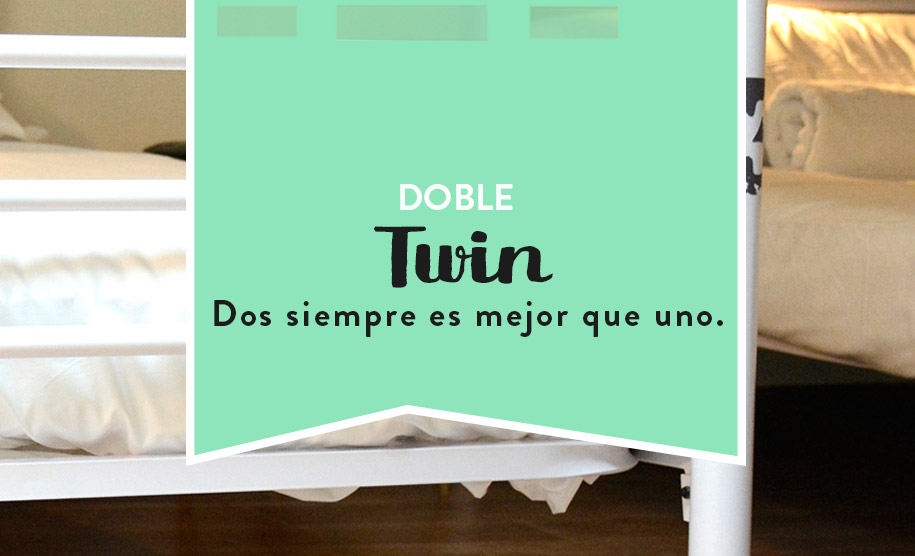 Habitación doble twin